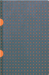 Cahier - Grey on Orange